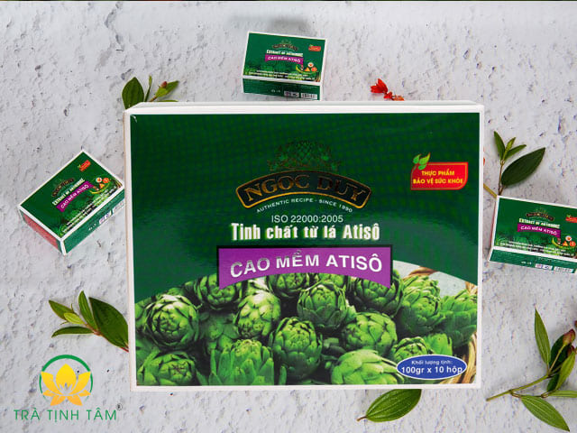 Cao Mềm Atiso Ngọc Duy hộp 1kg cao lá hộp xanh