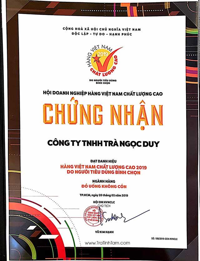 Chứng nhận Hàng Việt Nam Chất Lượng Cao Ngọc Duy