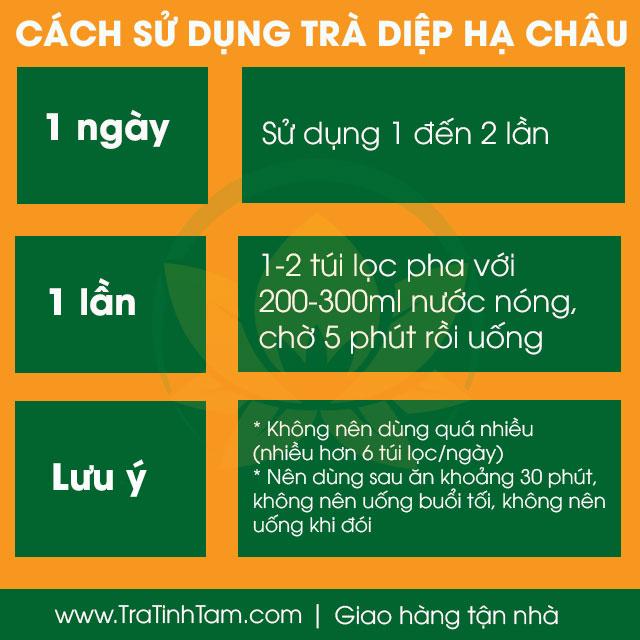 Cách sử dụng Trà Diệp Hạ Châu