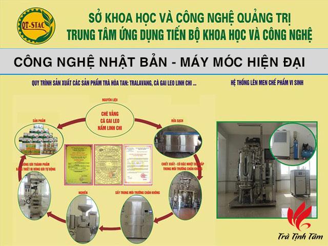 Quy trình sản xuất Chè vằng Hòa Tan