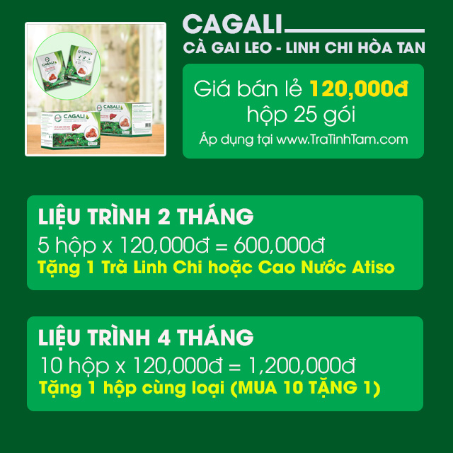 Giá bán CAGALI Cà Gai Leo - Linh Chi Hòa Tan