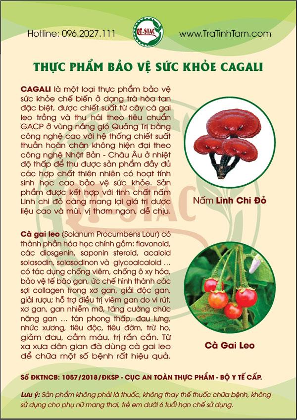 Thông tin sản phẩm CAGALI