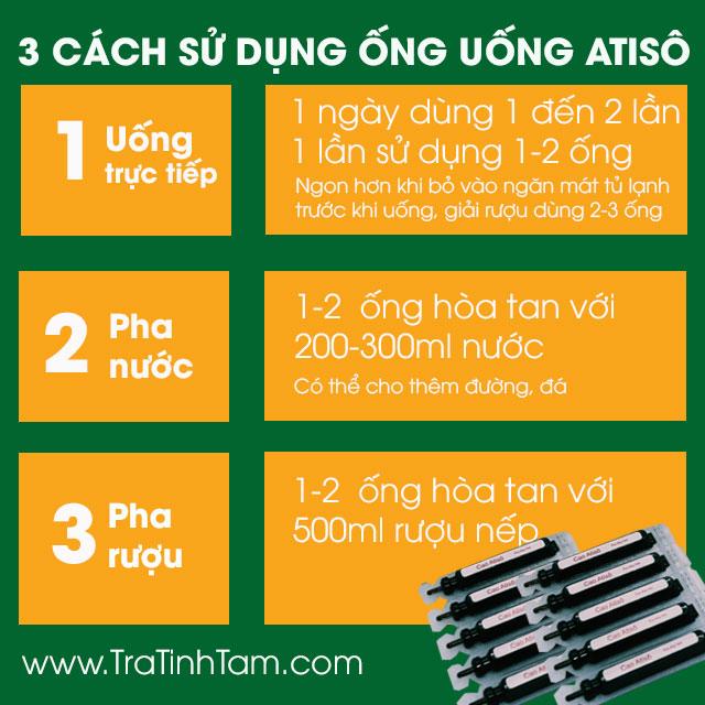 Cách sử dụng Ống Uống Atiso