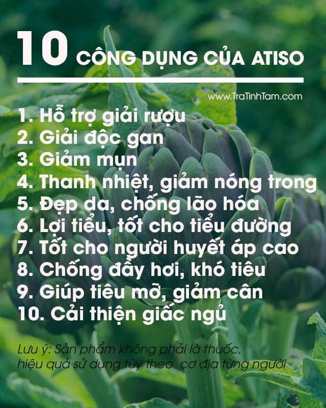 10 công dụng của Atiso