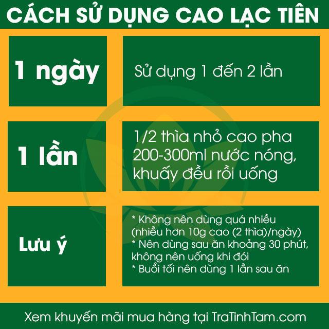 Cách sử dụng Cao Lạc Tiên